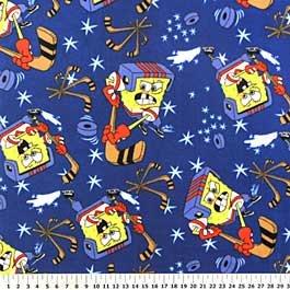 Spongebob Squarepants Hockey Blue 72x60