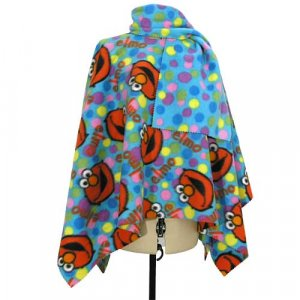 Elmo Dots Poncho & Scarf