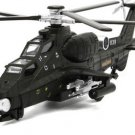 CAIC Z-10 Helicopter model with light, sound and recoil propeller alloy - color black