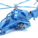 CAIC Z-10 Helicopter model with light, sound and recoil propeller alloy - color:blue