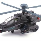 1:64 Apache AH-64 helicopter gunships model Alloy simulation with light sound recoil propeller alloy
