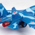 Sukhoi Su-35 fighter jet model with light, sound and recoil propeller alloy - No.2- color blue