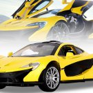 1:32 McLaren P1 car model with light, sound and recoil alloy 3 gates - color:yellow