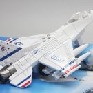 F-16 fighter model Fighting Falcon with light, sound and recoil propeller alloy -color:white