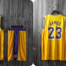 NBA Basketball Team L.A. Lakers LAL Cosplay Costume Sports Wear Uniform T shirt jersey -color:yellow