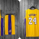 NBA Basketball L.A. Lakers LAL Cosplay Costume Sports Wear Uniform T shirt jersey V -color:yellow2