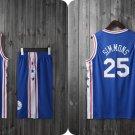 NBA Basketball Philadelphia 76ers PHI Cosplay Costume Sports Wear Uniform T shirt jersey -color:blue