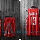 NBA Basketball Houston Rockets HOU Cosplay Costume Sports Wear Uniform T shirt jersey -color:red