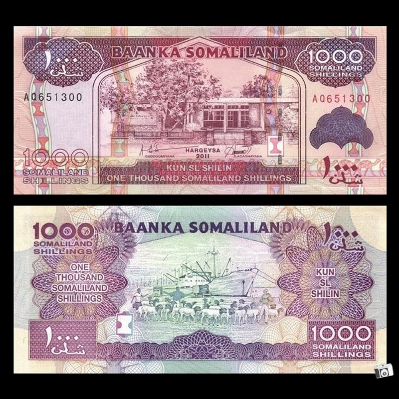 Fidelity Authentic ancient coins Somaliland 1000 paper money
