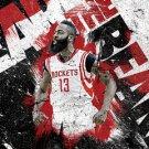 NBA basketball star poster painting , 16*24 inches, Self adhesive waterproof - No.E5