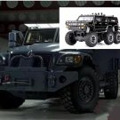 1:32 Hummer Off-land vehicle field vehicle model alloy with light sound recoil propeller-color:black