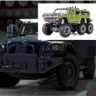1:32 Hummer Off-land vehicle field vehicle model alloy with light sound recoil propeller-color:green
