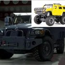 1:32 Hummer Off-land vehicle field vehicle model alloy with light sound recoil propeller-coloryellow