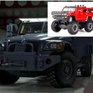 1:32 Hummer Off-land vehicle field vehicle model alloy with light sound recoil propeller-color:red