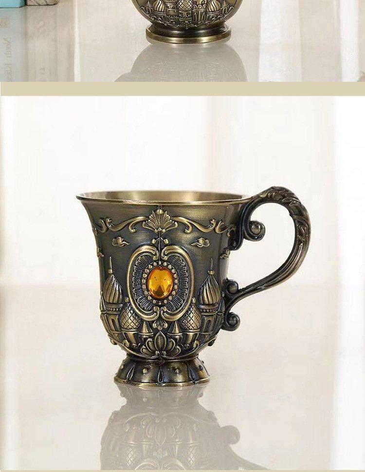 Ancient European noble wine cup relief zinc alloy