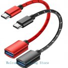 2 PCS USB 3.1 Type C Male To USB Female OTG Data Sync Converter Adapter Cable-No.CL01-Red