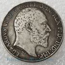 Rare 1905 British brass silver plated silver dollar Silver coin-No.I