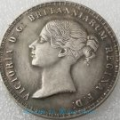Lion 1839 Queen Victoria 5 silver coin foreign silver dollar silver coin-No.H