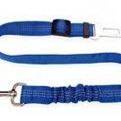 Pet car safety belt dog traction buffer elastic reflective traction rope dog rope - color:blue