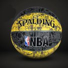 Authentic Spalding No.7 (29.5-29.9in) Rubber Basketball NBA outdoor street basketball -color:yellow