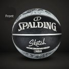 Authentic Spalding No.7 (29.5-29.9in) Rubber Basketball NBA outdoor street basketball -color:black