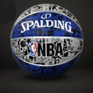Authentic Spalding No.7 (29.5-29.9in) Rubber Basketball NBA outdoor street basketball -color:blue