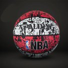 Authentic Spalding No.7 (29.5-29.9in) Rubber Basketball NBA outdoor street basketball -color:red