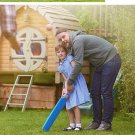 Children's puzzle cricket toy set sports toys fitness equipment plastic cricket toys - color:blue