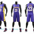 NBA Basketball L.A. Lakers LAL Cosplay Costume Sports Wear Uniform T shirt jersey V -color:purple