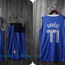NBA Basketball Dallas Mavericks DAL Cosplay Costume Sports Wear Uniform T shirt jersey -color:blue