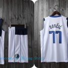 NBA Basketball Dallas Mavericks DAL Cosplay Costume Sports Wear Uniform T shirt jersey -color:white