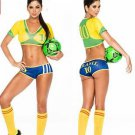Cheerleading soccer football baby sex dress cloth suit -Brazil