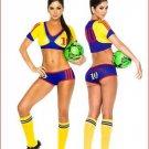 Cheerleading soccer football baby sex dress cloth suit -Columbia