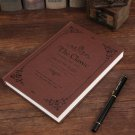 Pirate ship shape notebook classic business creative stationery notebook manual -color:red