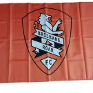 A-League Brisbane Roar FC flag Cape flag, Silk production 36x60 inch