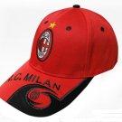 Associazione Calcio Milan football Club F.C. Football cap embroidered cap hat Sun hat cap -color:red