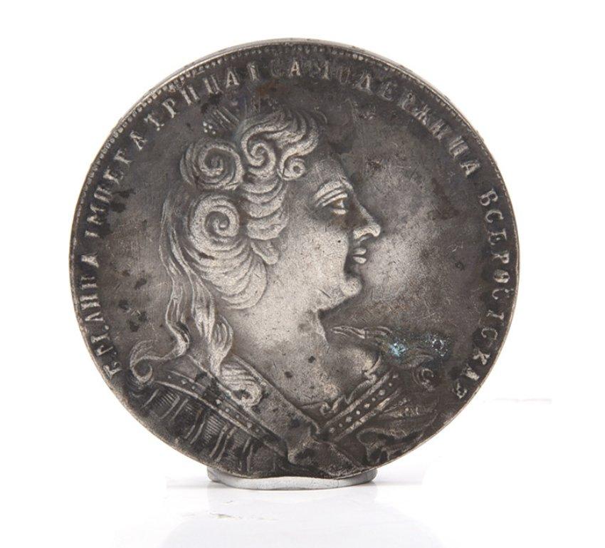 1730 czar Russia Anna Ivanovna silver coin ruble coin antique silver dollar
