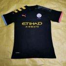 The Premier League Manchester City FC Football Club Jersey T shirt Sleeve Cosplay shirt -black
