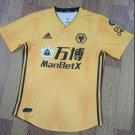 The Premier League Wolverhampton Wanderers Football Club FC Jersey Cosplay Sleeve T shirt -yellow