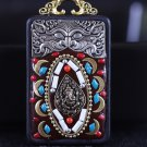 Nepal Buddha card Star Moon King Kong key Tag Necklaces and beads amulet Car jewelry Ebony -No.2