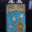 Nepal Buddha card Star Moon King Kong key Tag Necklaces and beads amulet Car jewelry Ebony -No.3