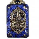 Nepal Buddha card Star Moon King Kong key Tag Necklaces and beads amulet Car jewelry Ebony -No.4