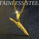 Assassins Creed Titanium steel short blade jewelry dagger Pendant Necklace -color:golden