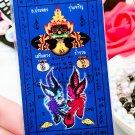 Thailand temple Achan Pakong Runcharoen Fortune safety Buddha stickers amulet -No.3