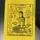 Thailand temple Nakhon Pathom Fortune Goddness safety Buddha stickers amulet cloth -color:yellow