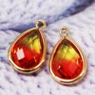 Copper edge rare earth crystal Gradients Earrings Necklace Pendants parts (buy 1 get 2) -No.6