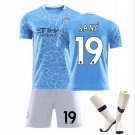 The Premier League Manchester City Football Club Jersey Cosplay suit T shirt Shorts sleeve socksNo19