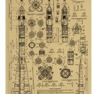 rocket design sketch draft Cartoon chart picture Kraft paper poster Decorative painting
