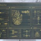 Star Wars aircraft Cartoon chart picture Kraft paper poster Decorative painting