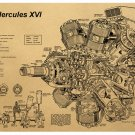 Heavy duty engine design sketch draft Cartoon chart picture Kraft paper poster Decorative painting